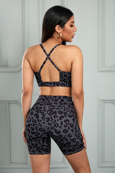 Conjunto Fitness mujer Spurs | Gris |